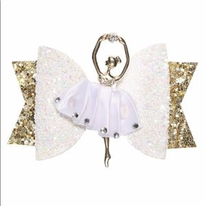 NEW Girls Ballerina Hair Bow